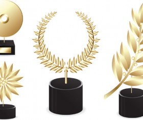Creative golden awards vector material 01