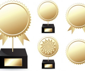 Creative golden awards vector material 03