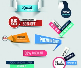 Creative sale sticker with labels design 01