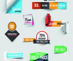 Creative sale sticker with labels design 03