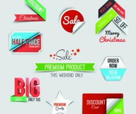 Creative sale sticker with labels design 04
