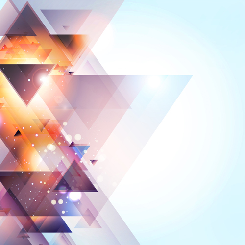 Cubes triangle shiny background vector - Vector Background ...