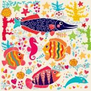 Cute cartoon floral animals pattern vector set 10