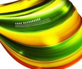 Dynamic wavy gloss background vector 01