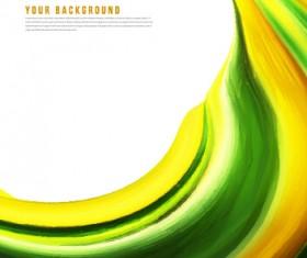 Dynamic wavy gloss background vector 04