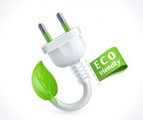 Eco friendly logos creative vector design 09