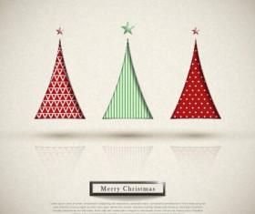 Elegant christmas tree holiday background vector 01