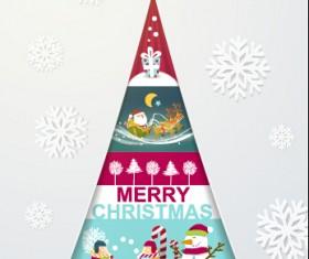 Elegant christmas tree holiday background vector 02