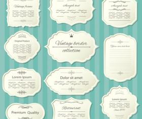 Elegant paper frames 04 vector
