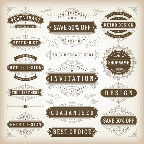 elegant sales discounts labels vector free download