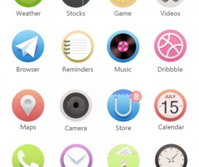 Exquisite modern app psd icons