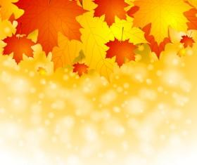 Fantasy autumn leaves art background