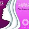 Female face multilayer background vector 01