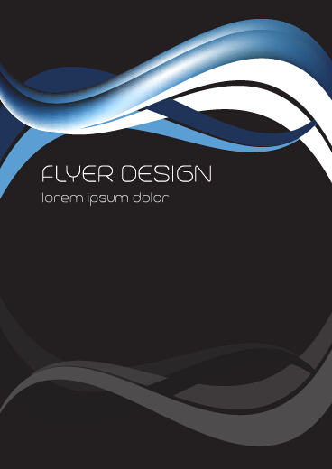 Dynamic lines flyer cover vector set 01