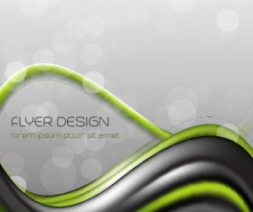 Dynamic lines flyer cover vector set 10