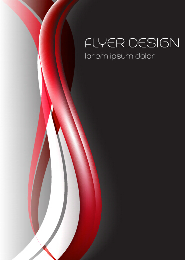 Dynamic lines flyer cover vector set 04