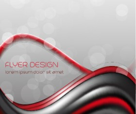 Dynamic lines flyer cover vector set 05