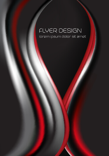 Dynamic lines flyer cover vector set 06