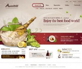 Food world website template psd