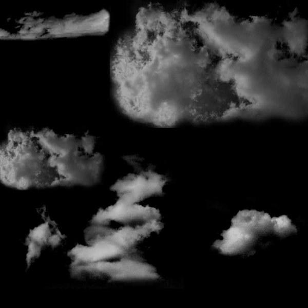 Free cloud creative Photoshop Brushes