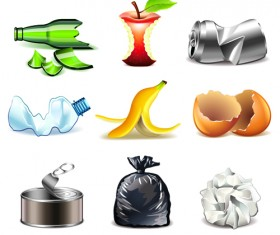 Garbage icons creative vector design