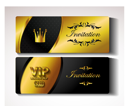 Golden vip invitation cards vector design 01 vector card free golden vip invitation cards vector design 01 stopboris Image collections
