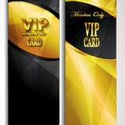 Link toGolden vip invitation cards vector design 02