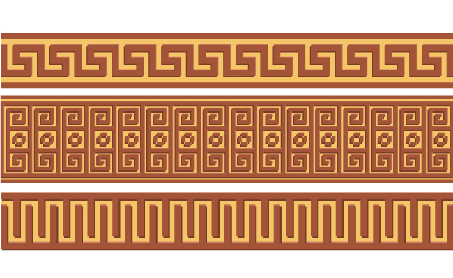 Greek ornament pattern borders vector 02 free download