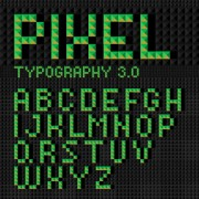 Link toGreen geometric shapes alphabet vector