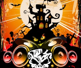 Halloween horror party poster vector 02