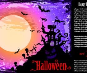 Halloween horror party poster vector 04