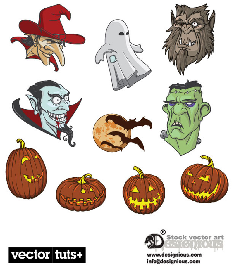 Halloween ornament icons vector material 04