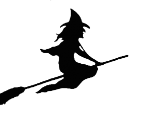 Halloween witch silhouette set vector 06