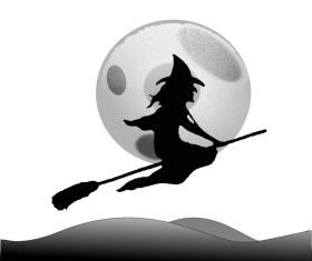 Halloween witch silhouette set vector 07