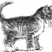 Link toHand drawing black kittens vector 02