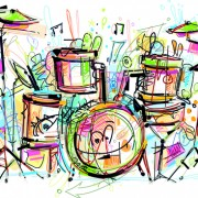 Link toHand drawn colored musical instruments vector 05