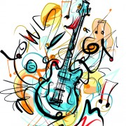 Link toHand drawn colored musical instruments vector 06
