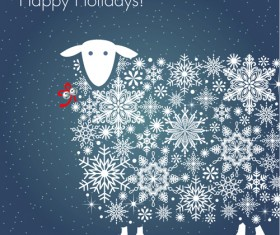 Happy holiday sheep background vector 01