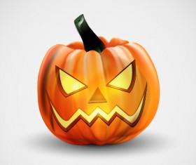 Horror pumpkins halloween vector 01