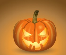 Horror pumpkins halloween vector 02