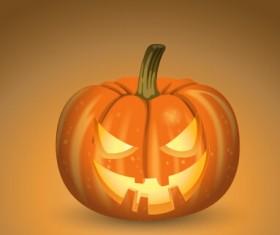 Horror pumpkins halloween vector 02