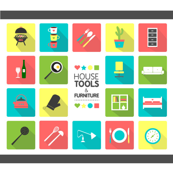 House tool with furniture icons