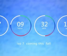 IOS 7 countdown psd material