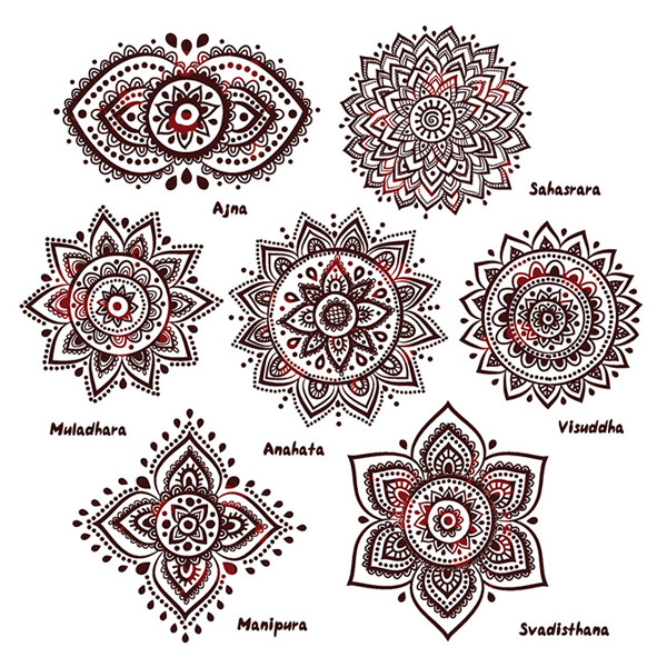 India style ornament elements pattern vector