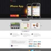Iphone app website psd template