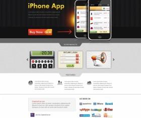 Iphone app website psd template