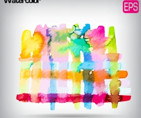 Messy watercolor art background vector 01
