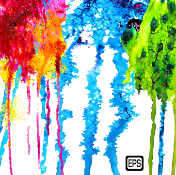 Messy watercolor art background vector 03
