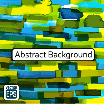 Messy watercolor art background vector 04