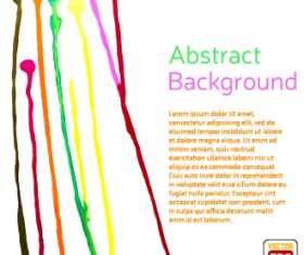 Messy watercolor art background vector 06
